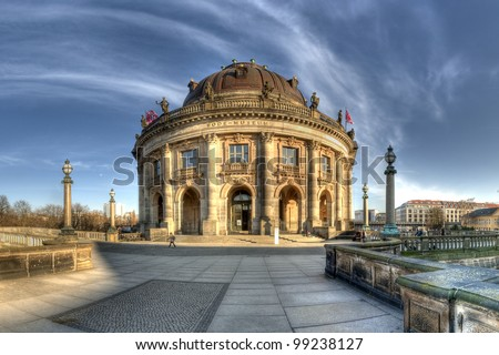 Bode Museum, located at Museum Island in Berlin Mitte, Germany, a UNESCO World Heritage Site, Bode Museum auf der Museumsinsel in Berlin Mitte, Deutschland, UNESCO Weltkulturerbe - stock photo