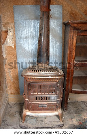 Bodie, California - ghost town - stove - stock photo