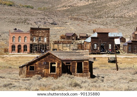 Bodie Ghost Town, a California State Park - stock photo