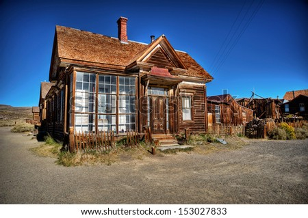 Bodie - ghost town - Old House - stock photo
