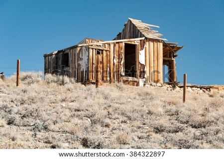 Bodie State Historic Park,  ghost town in the Bodie Hills, Mono County, California, United States. - stock photo