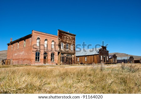 Bodie State Park, A ghost town that was a wild west mining town. - stock photo