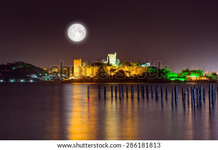 "Bodrum Castle ""Elements of this image furnished by NASA"" - stock photo"