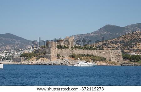 Bodrum Castle in Aegean Coast of Turkey - stock photo