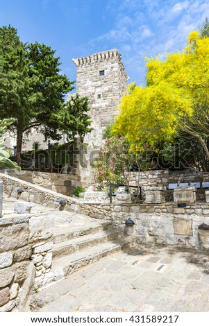 Bodrum Castle interior view, Turkey - stock photo