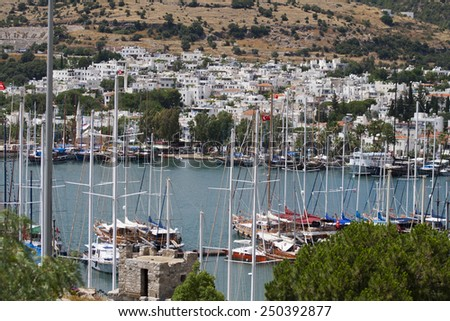 Bodrum Coast - stock photo