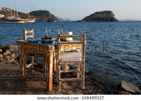 Bodrum coast inTurkey. - stock photo