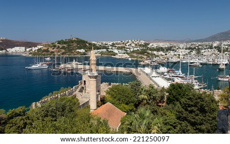 Bodrum Town in Mugla City, Aegean Turkey - stock photo