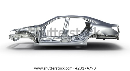 body car isolated on white background 3d - stock photo