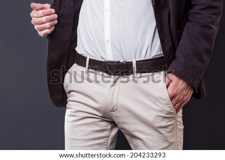 body detail of a business man - stock photo