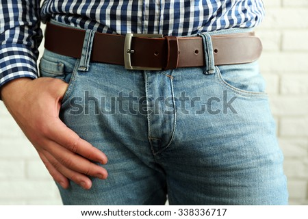 Body detail of well-dressed man, close-up - stock photo