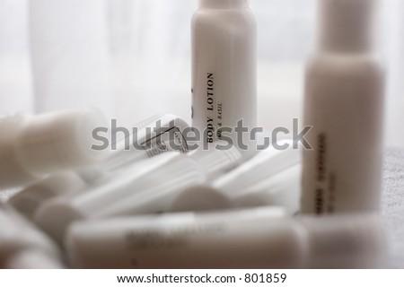 body lotion in dof - stock photo
