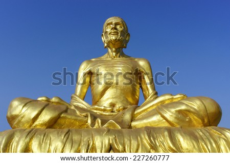 "Body of buddha statue ""Created with money donated by people to hire artist, They are public domain or treasure of Buddhism."" - stock photo"