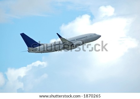 Boeing 737-800 passenger jetliner - stock photo