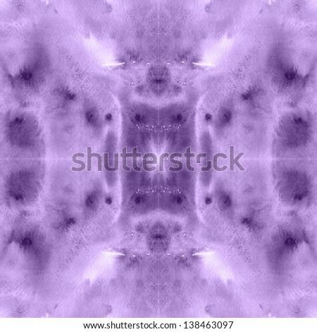 Bohemian watercolor seamless pattern. Purple tie-dye style raster texture. - stock photo