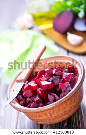 boiled beet - stock photo