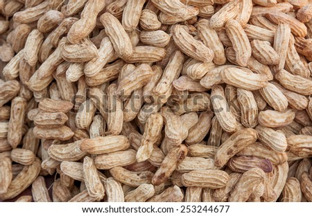 Boiled peanuts on the market,Thailand market. - stock photo