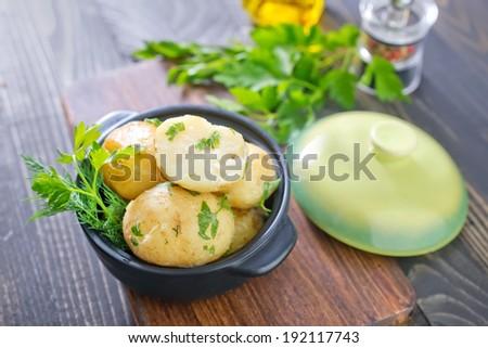 boiled potato - stock photo