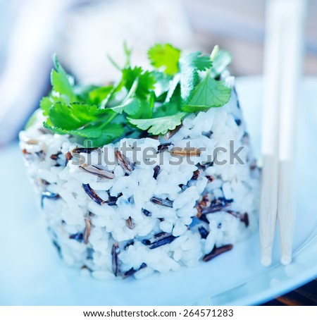 boiled rice - stock photo