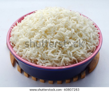 Boiled Rice Top - stock photo