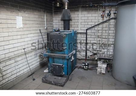 boiler plant - stock photo
