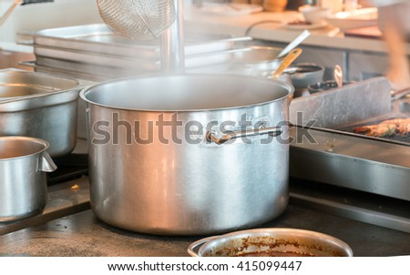 boiling soup - stock photo