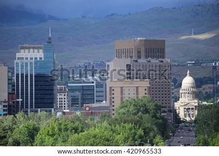 Boise, Idaho downtown - stock photo