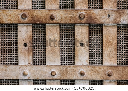BOISE, IDAHO - JULY 31: Empty chair in front of a fuse box at the Old Idaho State Penitentiary on July 31, 2013 in Boise, Idaho - stock photo