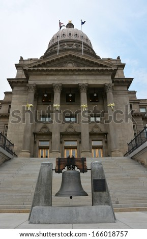 Boise state capital from outside - stock photo