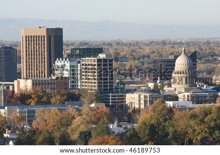 Boise, the capitol city of Idaho - stock photo