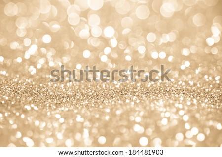 Bokeh abstract background wallpaper gold diamond for wedding card design - stock photo