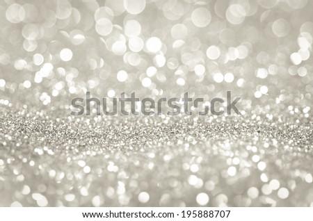 Bokeh abstract background wallpaper silver diamond for design - stock photo