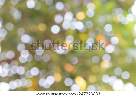 Bokeh abstract nature background. Blurred focus - stock photo