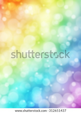 Bokeh background. Rainbow bokeh. Colorful abstract background. Bokeh lights. Defocused lights. Rainbow gradient. Sunlight on decorative vertical texture. Vertical background. - stock photo