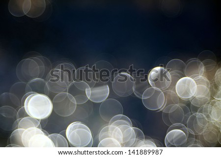 bokeh blurred blue water reflections - stock photo