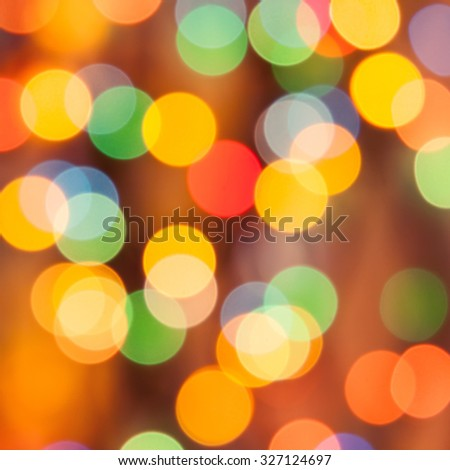 Bokeh. Holiday background blurry lights - stock photo