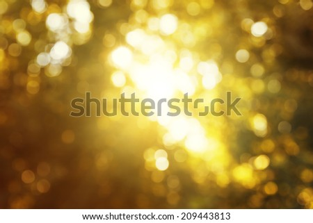 bokeh in autumn forest - stock photo
