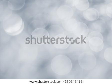 Bokeh in silver-gray tones - stock photo