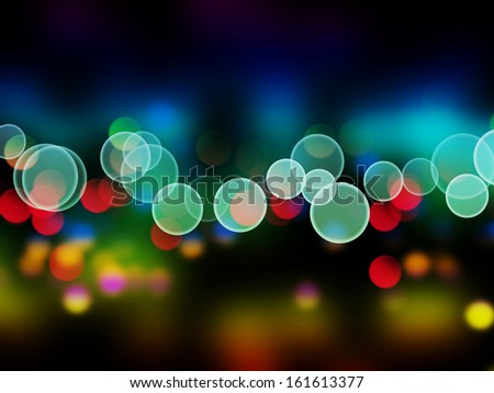 bokeh lights as background on black - stock photo
