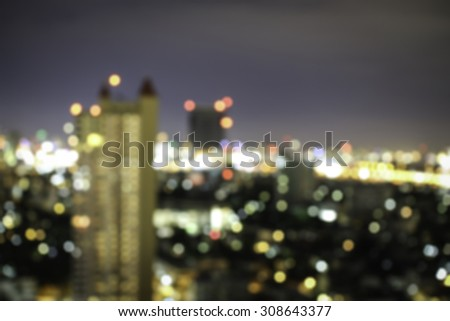Bokeh Lights , tower lights blur background - stock photo