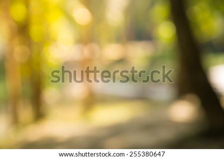 Bokeh Nature Background (Blurred nature wallpaper) - stock photo