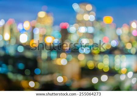 Bokeh of city  night light, blurred background - stock photo