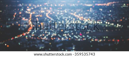 bokeh of city vintage tone - stock photo