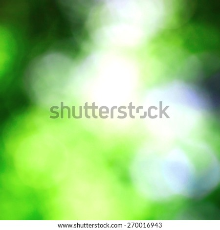 Bokeh of sunny morning summer nature - stock photo