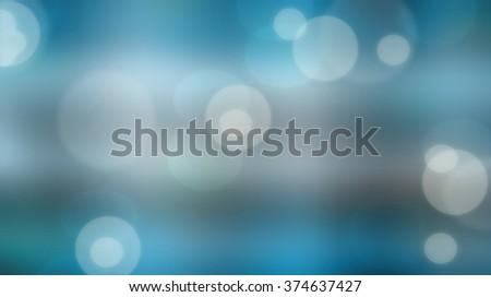 Bokeh on blue blurred background. Abstract bokeh on blue blurred background - stock photo