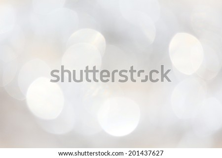 Bokeh silver lights - stock photo