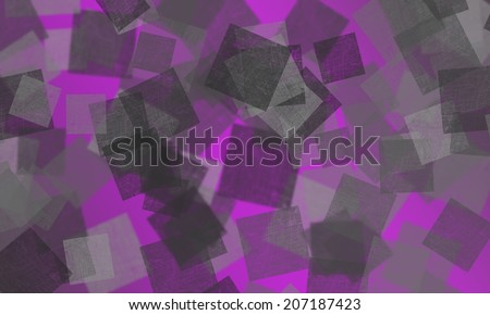 Bokeh squares of different opacities on a purple background  - stock photo