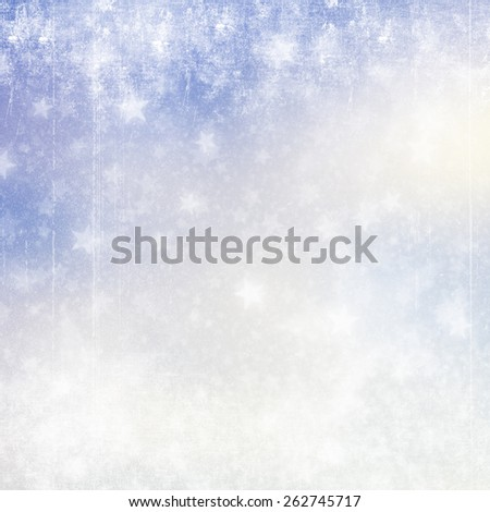 Bokeh stars blue background with multi layers in vintage style - stock photo