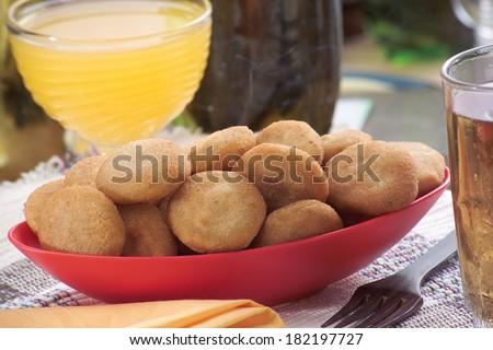 Bolachas de Queijo - Typical brazilian snack - stock photo