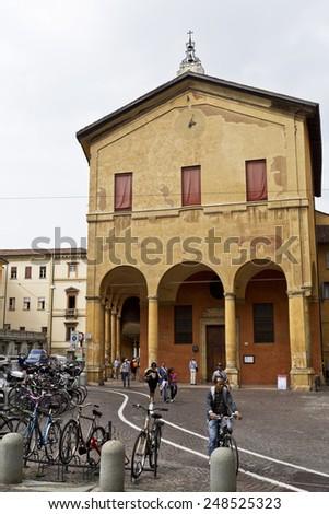 BOLOGNA, ITALY - SEPTEMBER 5, 2014: The Sanctuary of Santa Maria della Pioggia in Bologna, Italy - stock photo